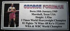 Boxing GEORGE FOREMAN  Photo colour name Free Postage