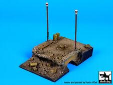 Black Dog 1:72 Destroyed Bridge (80x125 mm) Diorama Resin Base #D72012