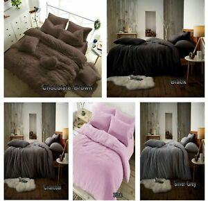 Teddy Bear Bedding Duvet Set+fitted sheet 4.5 Tog Extra furry Warm cosy Fluffy