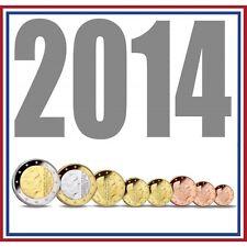 Holanda serie completa euros 2014 - PAISES BAJOS tira euros 8 valores 2014