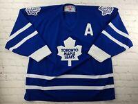 VINTAGE 90s NHL Toronto Maple Leafs White CCM Sewn Jersey Hockey Size XL Men's