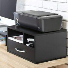 Printer Stand Desk Organizer Wood File Drawer Office Supplie Storage Shelf US