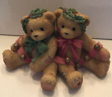 """Cherished Teddies-Bonnie And Harold-""""Ring In The Holidays With Me� Christmas1998"""