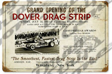 Dover Drag Strip Drag Race Racing Grand Opening Steel Sign