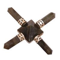 Labradorite Stone 4 Point Energy Generator Pyramid Crystal Healing Spiritual