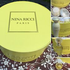 NINA RICCI 1 oz SPRAY Plus COMPLETE SET PARIS FRANCE 🇫🇷 NEW NEVER USED