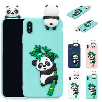 Cute Panda Doll Soft Rubber Silicone Case Cover For iPhone XR/XS Max 7 8 Plus/6s