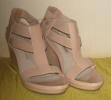 Dana Buchman NWT Blush Wedge Heels Open Toe Shoes #SH11