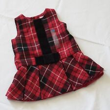 8bfb2064 The Children's Place Christmas Plaid Jumper Dress Baby Girl Size 6-9 Months