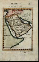 Arabie Arabian peninsula 1683 antique engraved hand color map