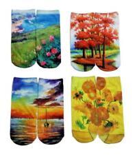 Artist Art Painter Fun Socks for Women Gift, 4 Pack Novelty Funny Socks Sz 9-11