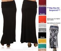 women skirt  banded waist long form fitting maxi  full length XL 2XL 3XL