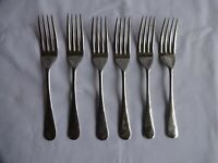 Vintage Stainless Nickel Silver forks x 6 Resilco, Sheffield Length 16 cm