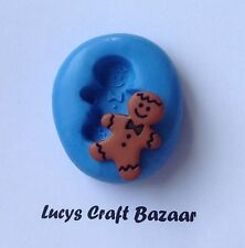 Silicone Mould Mini Gingerbread Man Cake Pop Decorating Sculpey Fondant Icing