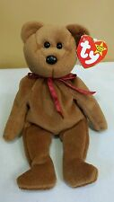 "Ty Beanie Baby ""TEDDY"" #4050 11-28-1995 w/tush tag 1993 No # Stamp *Retired/New"
