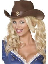 Fever Boutique Wild West Cowboy Hat Adult Womens Smiffys Fancy Dress Costume Hat