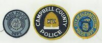 Elizabethtown / Paris / Campbell (KENTUCKY) Police Patches (USED)