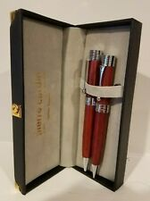 Pierre Cardin Vintage Woodgrain Pen and Pencil Set
