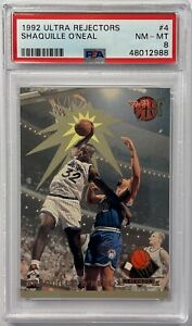 1992 Ultra Rejectors Shaquille O'Neal ROOKIE RC #4 PSA 8 NM-MT