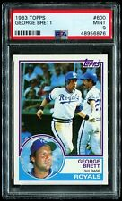 1983 Topps HOF #600 George Brett PSA Mint 9 - NEW LIGHTHOUSE LABEL!