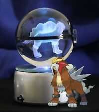 Pokemon Entei 3D Led Crystal Ball Night Lamp 80Mm Large Neo Revalation Gol Star