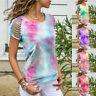 Women Off Shoulder Short Sleeve T Shirt Casual Summer Crew Neck Tunic Top Blouse
