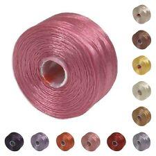 S-lon Beading Thread Mix 41980 (12 bobbins) Size D Pink Red Purple Yellow Tex 45