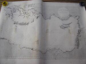 CARTE du bassin oriental de la MEDITERRANEE dressée en 1865 impression de 1952