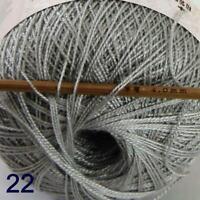 Thread No.8 Cotton Crochet Thread Yarn Craft Tatting Knit Embroidery 50g/400y 22