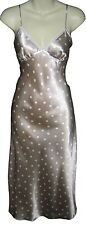 Ladies spot pattern long nightdress chemise size 12