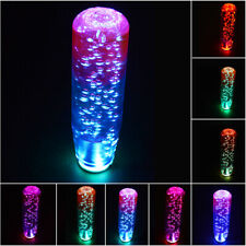 1X LED Light RGB Shift Knob Stick Crystal Purple Blue Bubble Gear Shifter 10CM