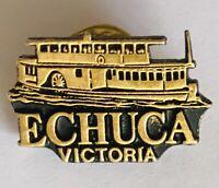 Echuca Victoria Australia Souvenir Paddle Boat Pin Badge Rare Vintage (G4)