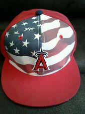 New listing New Los Angeles Angels USA Red White & Blue flag stadium exclusive cap