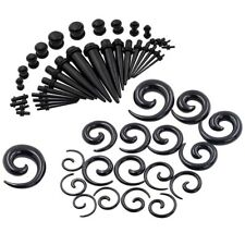 54pc lots Acrylic Ear Plug Taper Kit Gauges Expander Stretcher Piercing 14G-00G