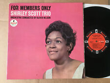 SHIRLEY SCOTT TRIO  - FOR MEMBERS ONLY 1968 USA  vinyl  LP
