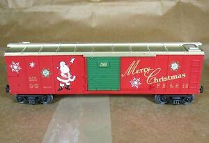 MTH RAIL KING O & O-31 40' SLIDING DOOR BOXCAR Merry Christmas 2000 Mint no box