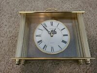 VINTAGE SEIKO Quartz Clock QZ102G Gold Columns Made in Japan