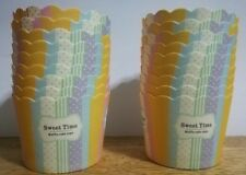 18pcs Stand Alone Color Stripes Cupcake Liner Baking Paper Cups Candy Holder