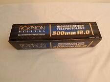 Camera lens Rokinon Digital 500Mm F/8.0 Telephoto High Definition