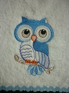 Babies Embroidered Towelling Bibs Collection of *CUTE-OWLS* Designs sew-ezy-aust