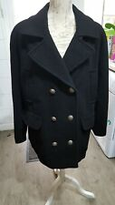 Lovely black wool mix coat size L (16/18) from Mackays