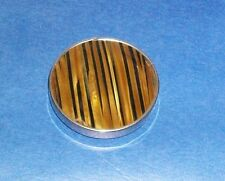 VTG TREVILLE COMPACT MIRROR POCKET PURSE TIGER STRIPE PRINT MADE IN WEST GERMANY