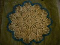 Beautiful Hand Crocheted Doily Pineapple NEW HI-123