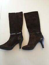 Alfani Tosha Dark Brown Suede Designer Knee High Boots - 7.5M