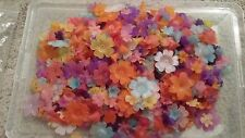 LARGE ACRYLIC FLOWER AND LEAVES BEAD LOT