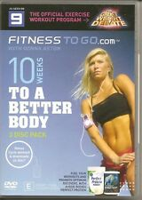 10 Weeks to Get a Better Body ! 2 DVD + 1 Audio CD Great Deal ! Three in One !