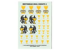 Bretonnia BRETONNIAN GRAIL KNIGHTS 2 Transfer Decal Sheet Warhammer 5th OOP Lot