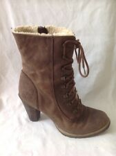 Carvela Brown Ankle Leather Boots Size 40