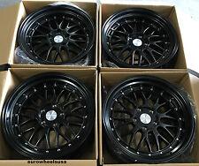 "17"" ESR SR05 Black Wheels 17X8.5 +30 For BMW E46 323i 325i 330i 328i Z3 Rims"