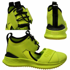 Puma x Fenty by Rihanna Avid Mens Lime Trainers 367682 03 B54A